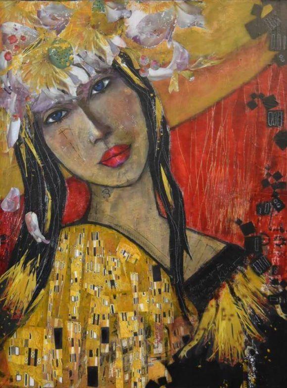 La dame du baiser de Klimt