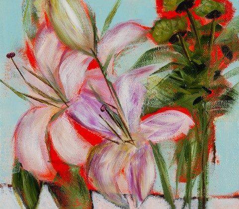 Sans titre (Fleurs roses)