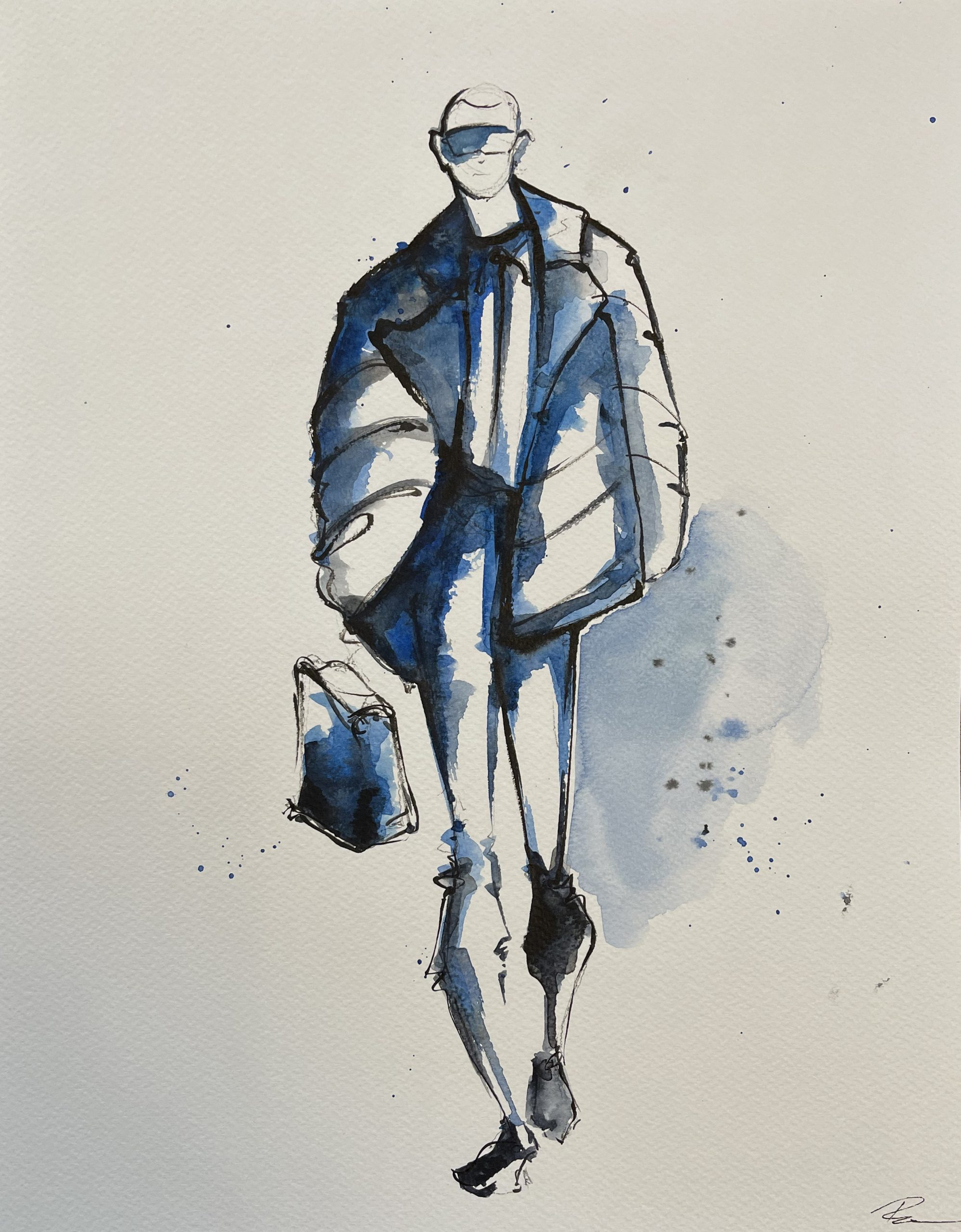 Blue FENDI