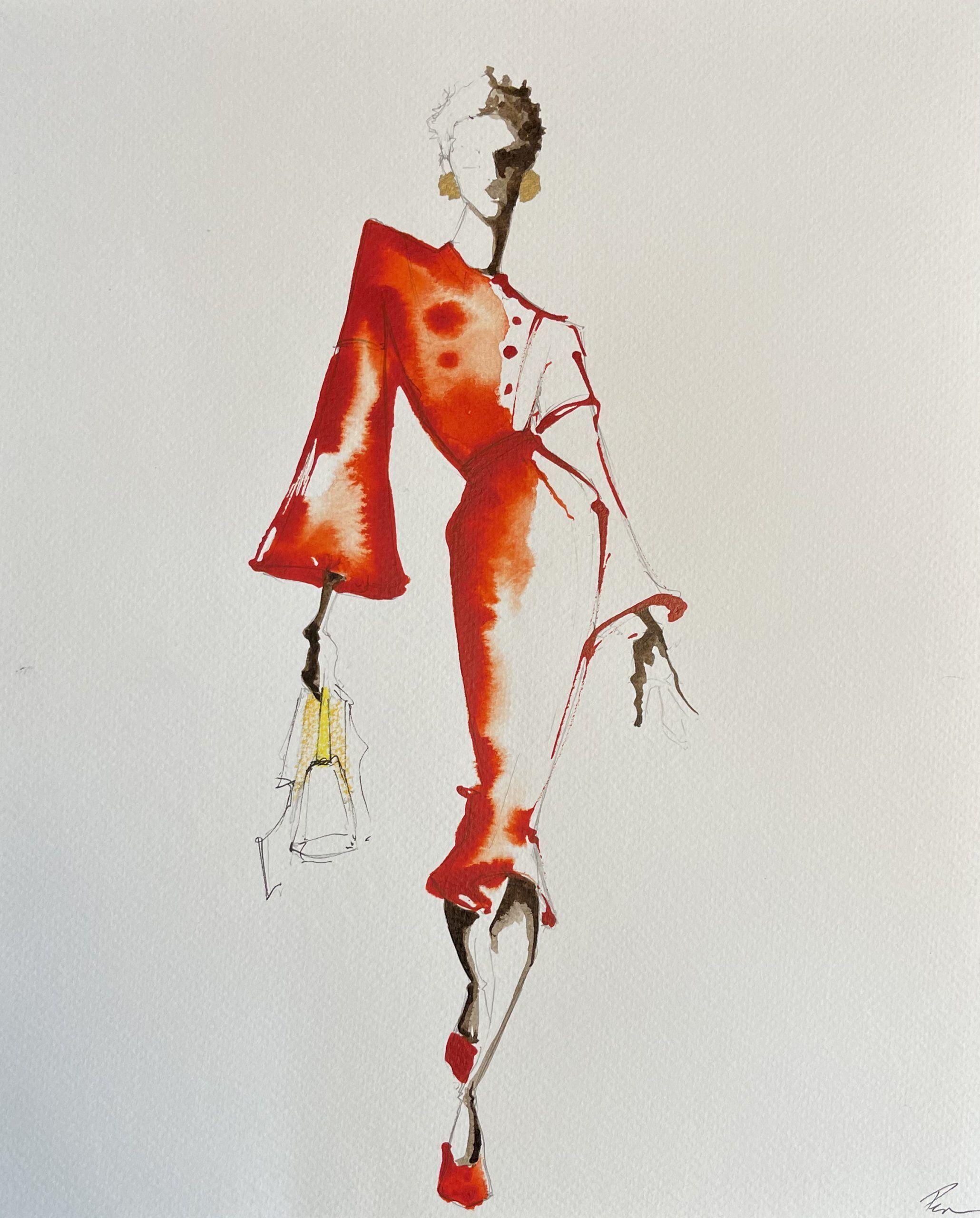 Red FENDI – SOLD